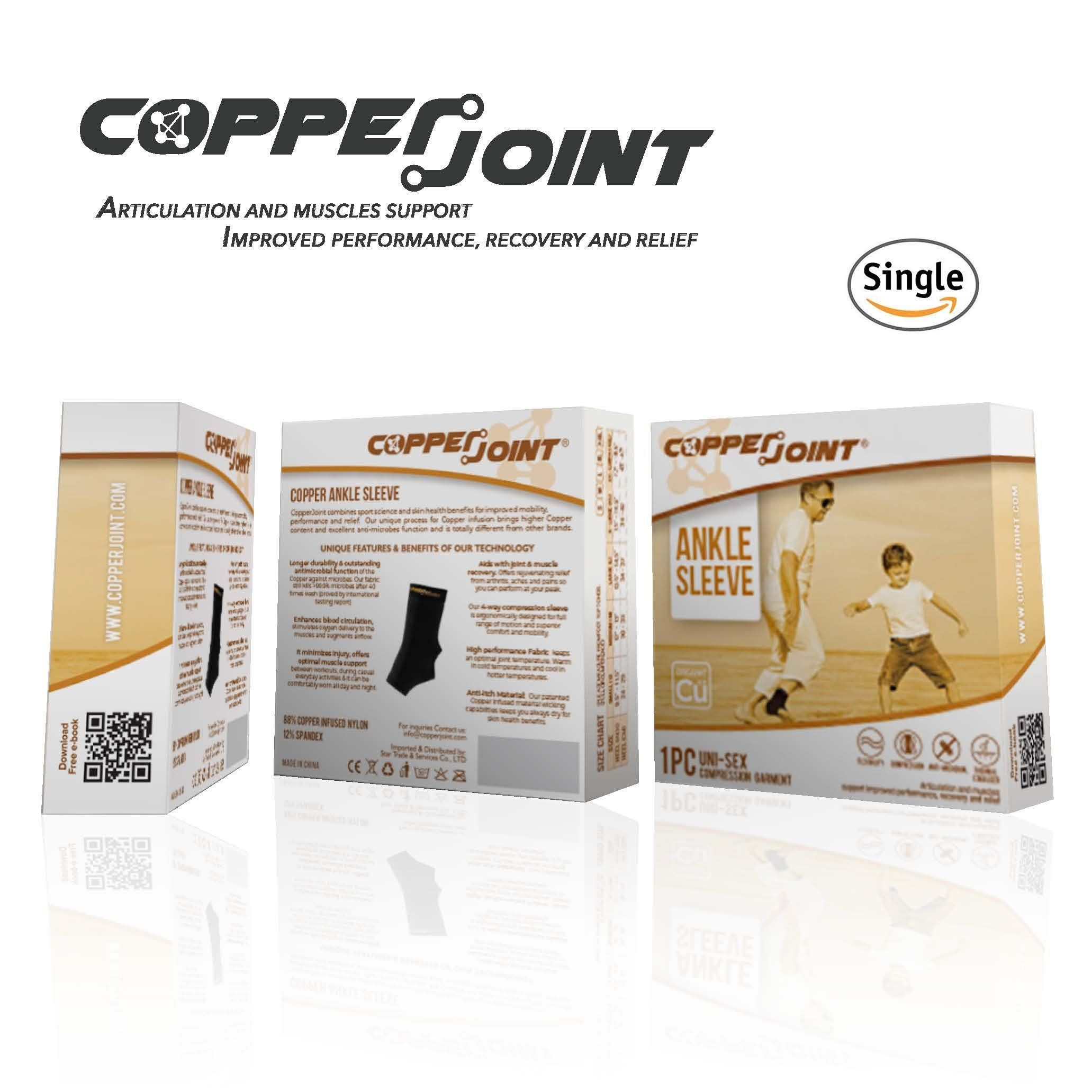 CopperJoint Copper-Infused Compression Ankle Sleeve, High-Performance, Breathable Design Provides Comfortable and Durable Joint Support for All Lifestyles, Single Sleeve (Medium) by CopperJoint (Image #5)