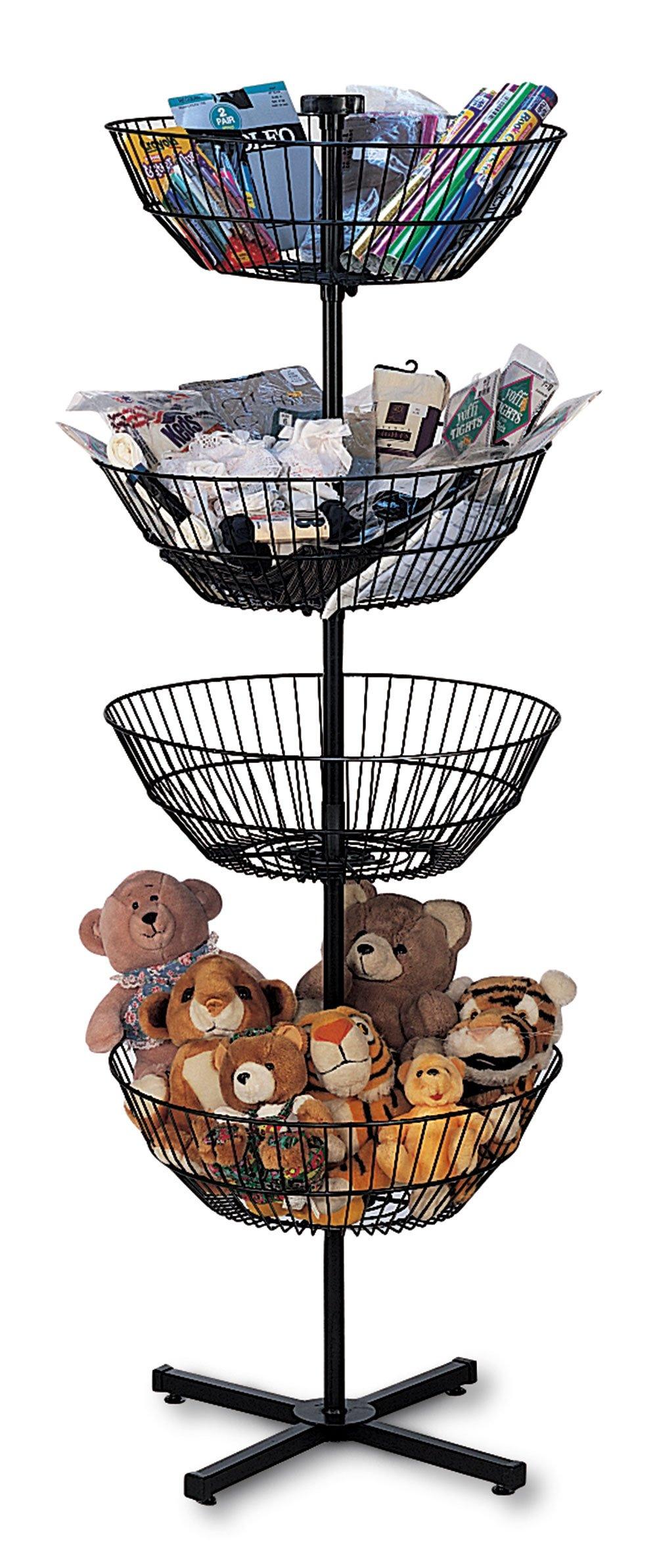 4-Basket Spinner Rack and Dump Bin (Includes Sign Holder)