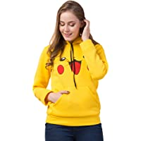 FurryFlair Pikachu Hoodie Sweatshirt for Women and Girls