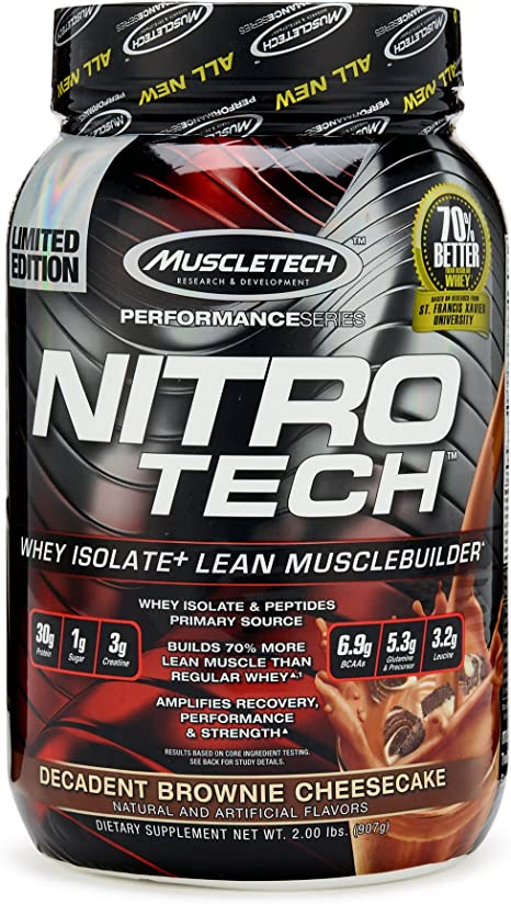 Muscletech Performance Series Nitro-Tech Brownie Cheesecake - 900 gr