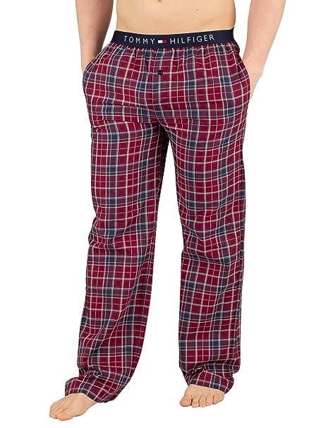 estilo limitado comprando ahora amplia gama Tommy Hilfiger Hombre Pantalones de Pijama a Cuadros de Tejido, Rojo