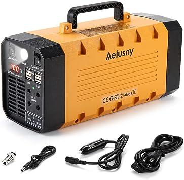 500W Portable Power Station Solar Generator Emergency Backup Supply AC Inverter