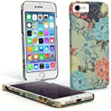 """iGadgitz 'Designer Collection' Floral Print Snap on PC Hard Back Case Cover for Apple iPhone 6, 6S & 7 4.7"""" + Screen Protector"""