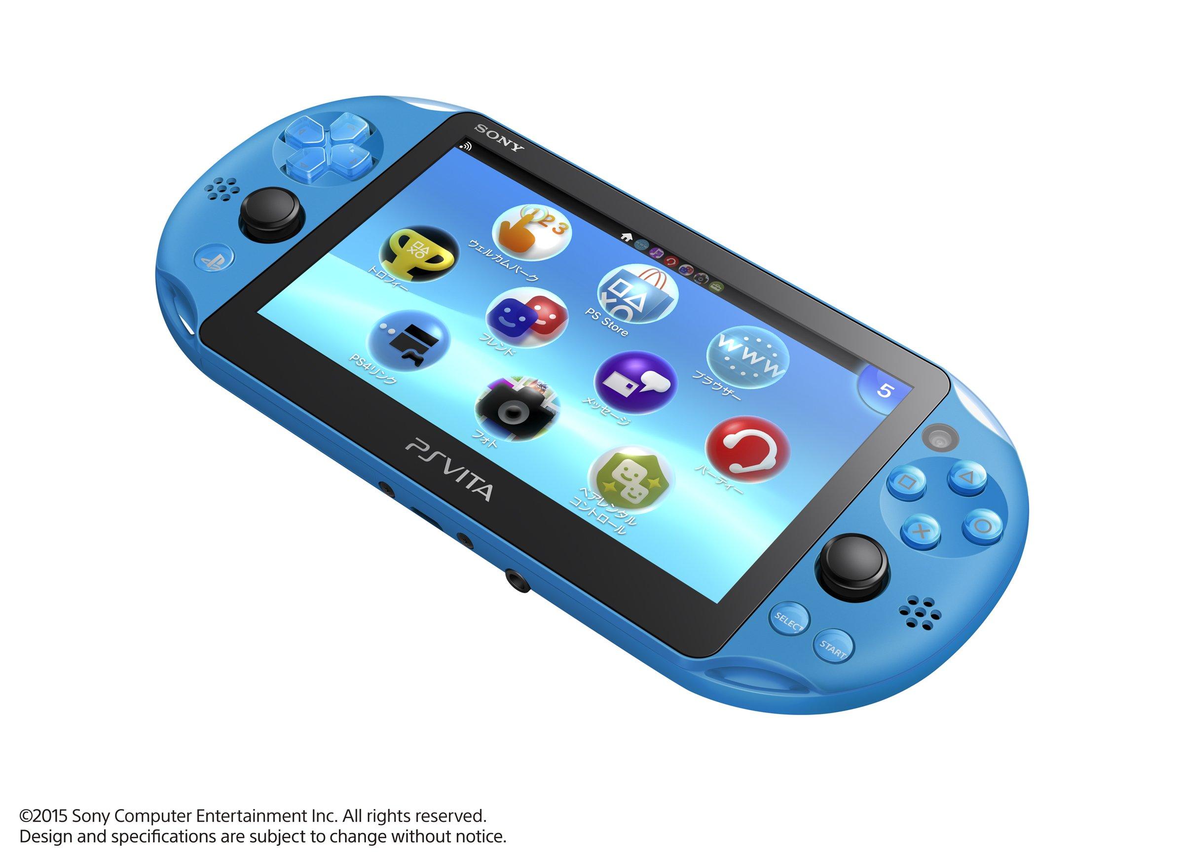 PlayStation Vita Wi-Fi model Aqua Blue (PCH-2000ZA23) Japanese Ver. Japan Import by Sony (Image #2)