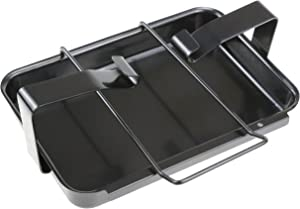 Hisencn 7515 Grill Catch Pan Holder Drip Pan Replacement for Weber Genesis 1000-5500, Genesis Silver/Gold/Platinum, Genesis II Series, Platinum I/II, and Summit, Porcelain Steel Grease Collection