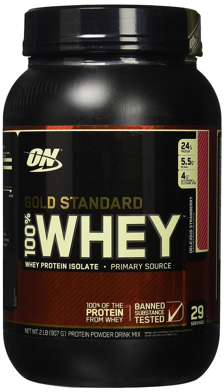 Optimum Nutrition WHEY GOLD STANDARD - fresa - 908gr: Amazon.es: Salud y cuidado personal