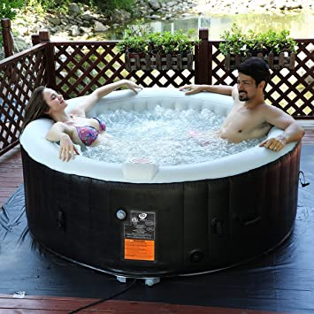Costway Whirlpool Aufblasbar Massage Spa Pool Aufblasbar