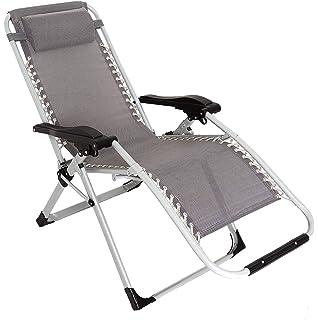 Sedia A Sdraio In Alluminio.Finether Sedia Sdraio Reclinabile E Pieghevole Lettino In