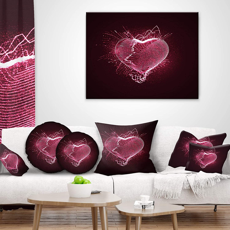 Designart CU7921-26-26 Happy Valentine/'S Day Throw Pillow 26 x 26