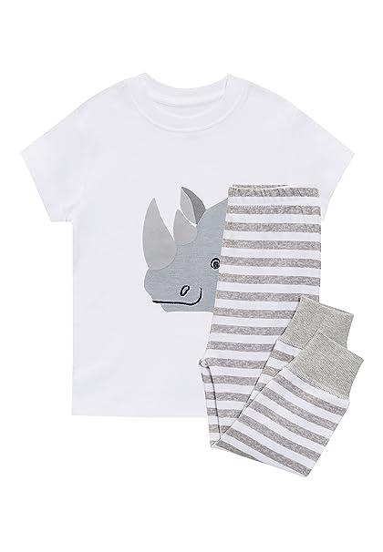 next Niños Pijama De Diseño Abrigado con Motivo De Rinoceronte (9 Meses - 6 Años