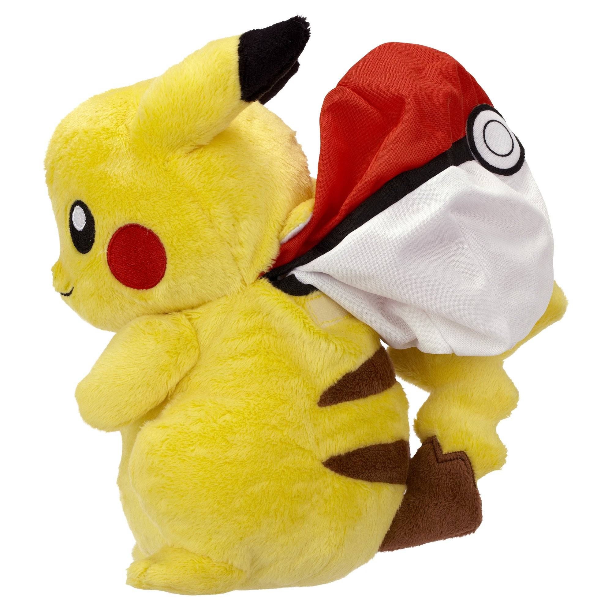 Reversible Plush B&W Series #2 Pikachu Into Poké Ball ~8""