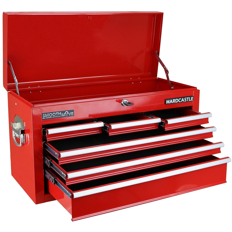 Hardcastle Boite Sup/érieure a 6 Tiroirs Verrouillable de Coffre /à Outils Rouge