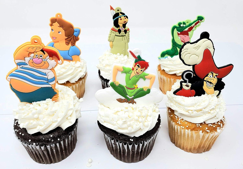 Peachy Amazon Com Peter Pan Birthday Cupcake Cake Party Favor Set Personalised Birthday Cards Paralily Jamesorg