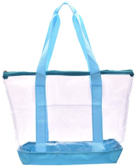 Amazon.com  Clear Tote Bag - Top Zipper Closure 6e75bccda3244