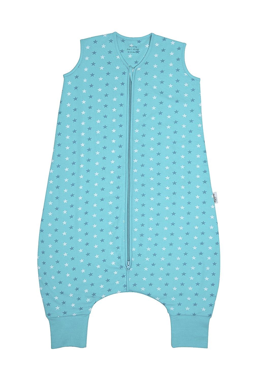Sacco nanna con piedini circa 2.5Tog–Teal Stars–disponibile in 4misure Schlummersack