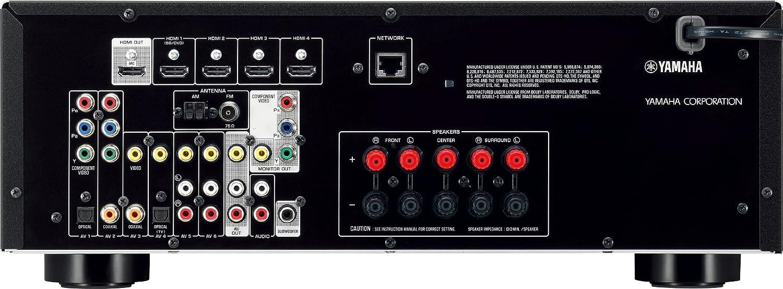 Yamaha HTR 4065 - Amplificador y sintonizador de audio y vídeo (3D Ready, 5 canales, 5 HDMI, USB, potencia máx. 675 W), color negro: Amazon.es: Electrónica
