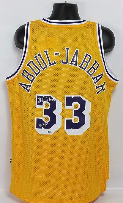 Kareem Abdul-Jabbar Autographed Los Angeles Lakers Adidas Swingman Jersey  w Inscription Beckett COA bc7831e74