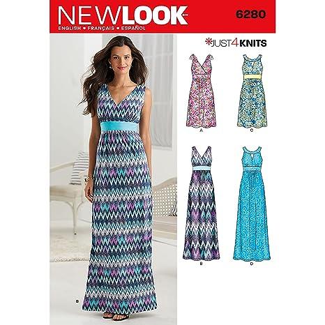 low priced 4c163 f0fc5 New Look NL6280 - Cartamodello per Abito Lungo, 22 x 15 cm ...