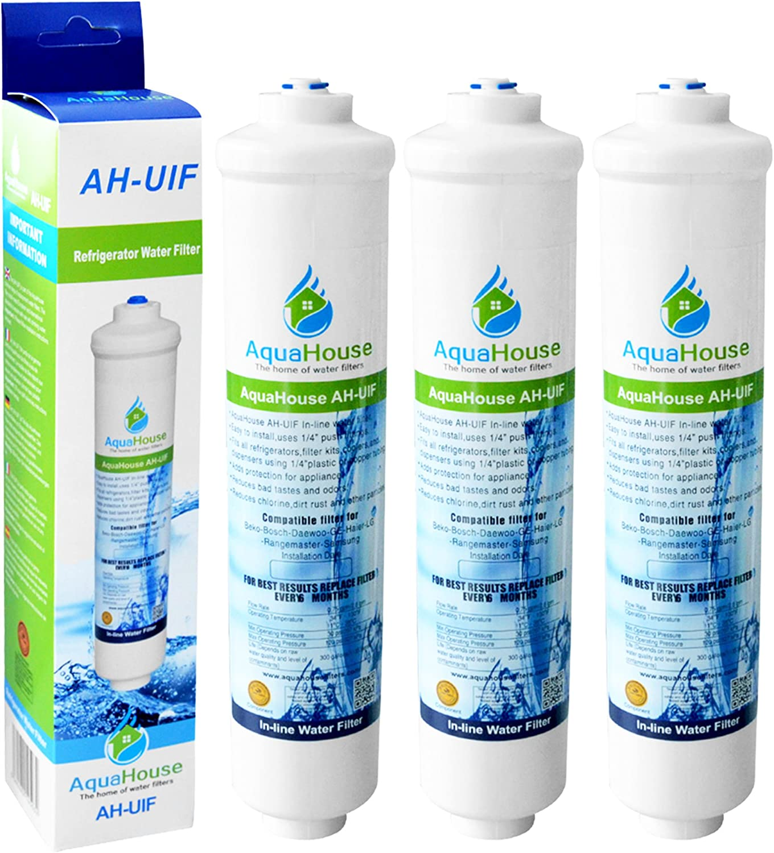 3x aquahouse ah-uifl compatible filtre à eau pour lg réfrigérateur avec externe filtre