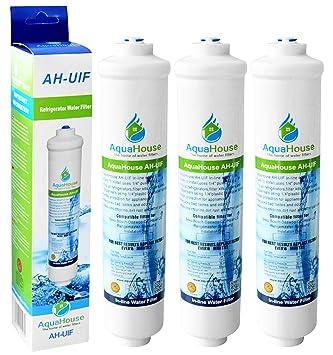 3x AquaHouse AH-UIF Filtro universal de agua para nevera ...