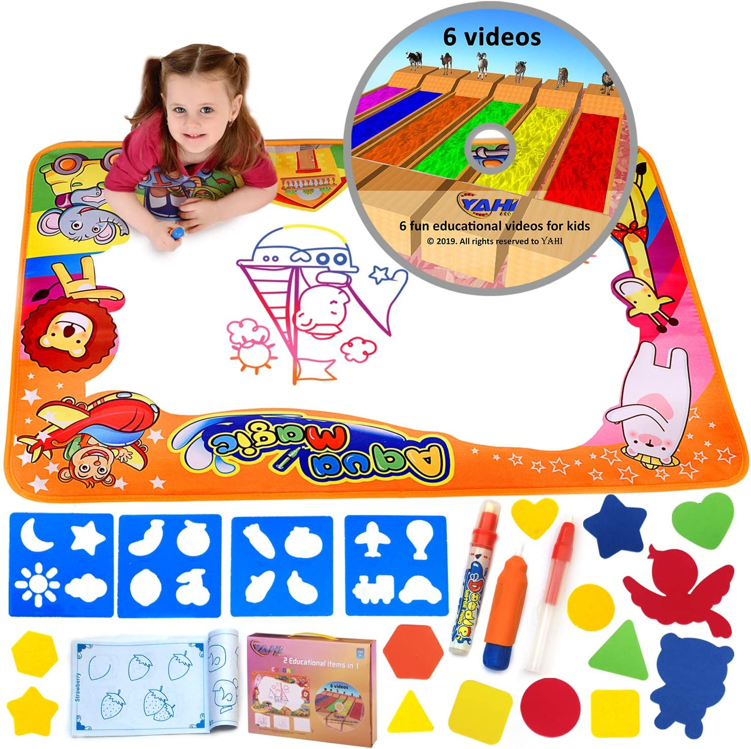 - Amazon.com: YAHI & CO Doodle Mat For Kids Water Drawing Aqua Magic