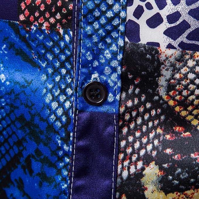 Resplend Blusa Superior de Manga Larga de Manga Larga con Estampado de Personalidad Casual para Hombre: Amazon.es: Ropa y accesorios