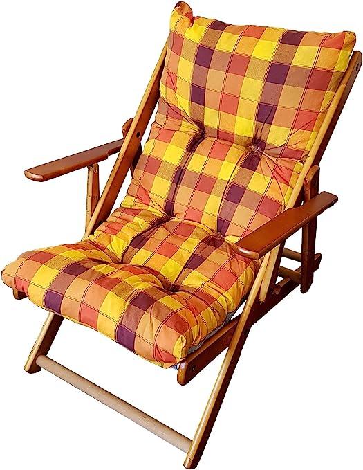 Legno Line Harmony Relax Chaise pliante en bois, avec ...
