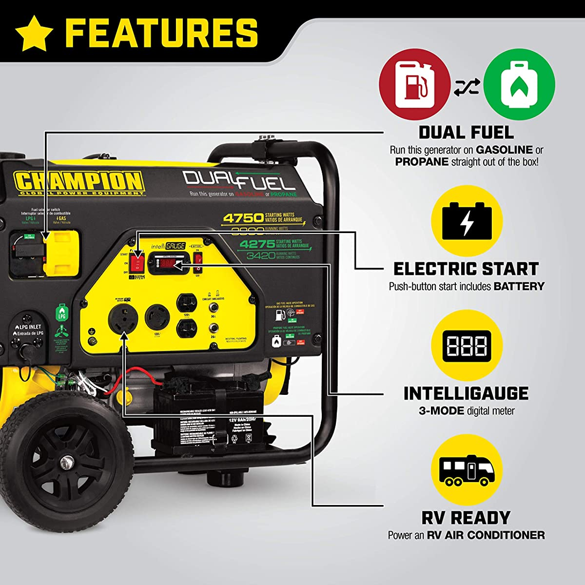 Best dual fuel inverter generator for RV