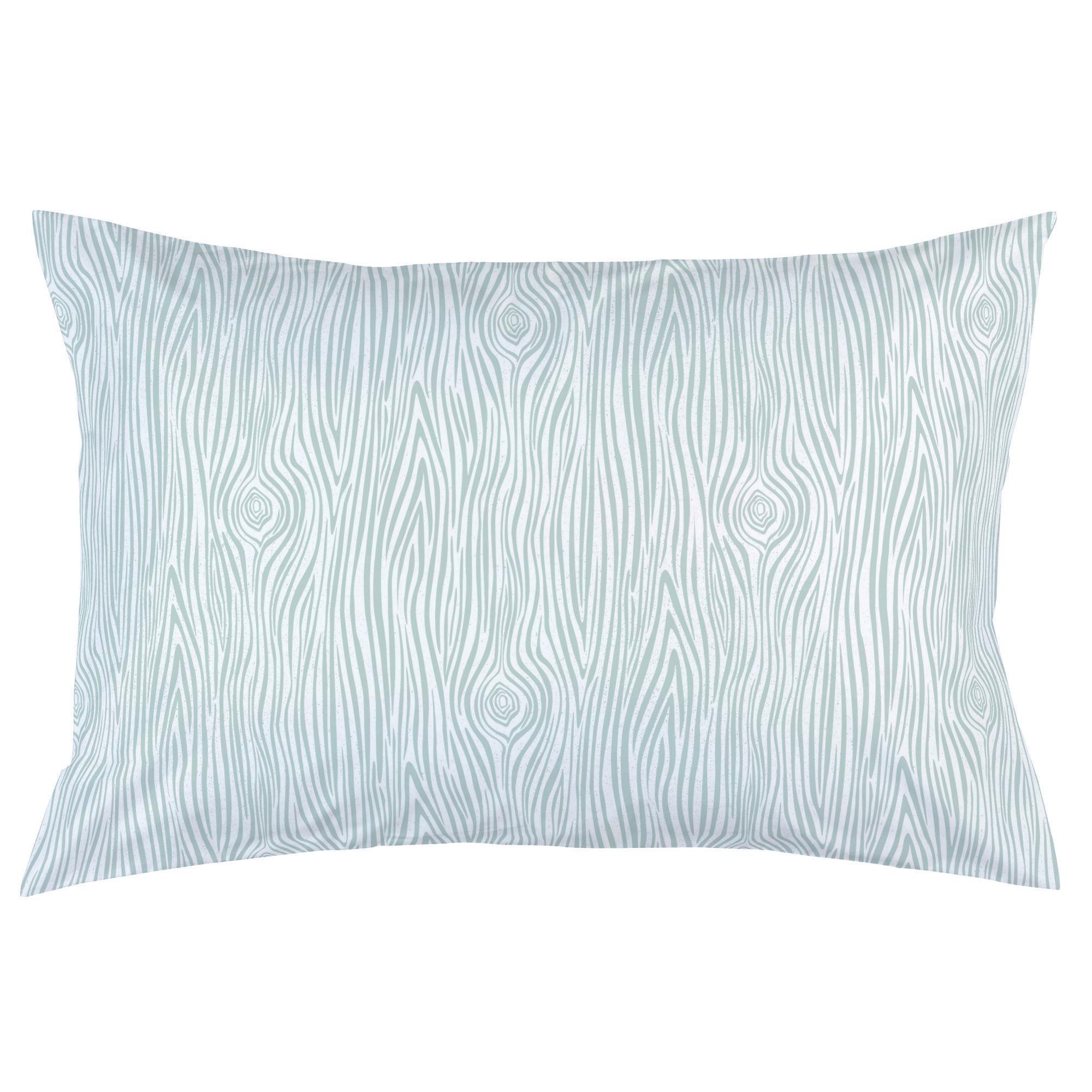 Carousel Designs Seafoam Woodgrain Pillow Case - Organic 100% Cotton Pillow Case - Made in the USA