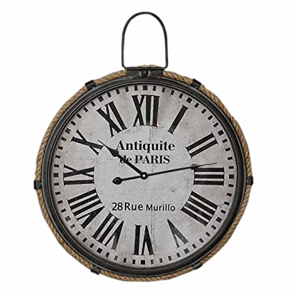 zxc Wall clock Relojes de Pared Tranquila de 47cm de Reloj de Pared Redondo Inicio decoración