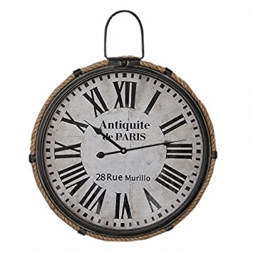 zxc Wall clock Relojes de Pared Tranquila de 47cm de Reloj de Pared Redondo Inicio decoración Relojes Antiguos de Pared Reloj de Pared, Modelo 1: Amazon.es: ...