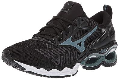 743c3721001a Mizuno Women's Wave Creation 20 Knit Running Shoe, Black-Dark Shadow 6 ...