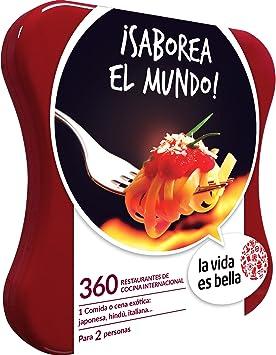 LA VIDA ES BELLA - Caja Regalo - ¡SABOREA EL MUNDO! - 360 restaurantes de cocina internacional: Amazon.es: Deportes y aire libre