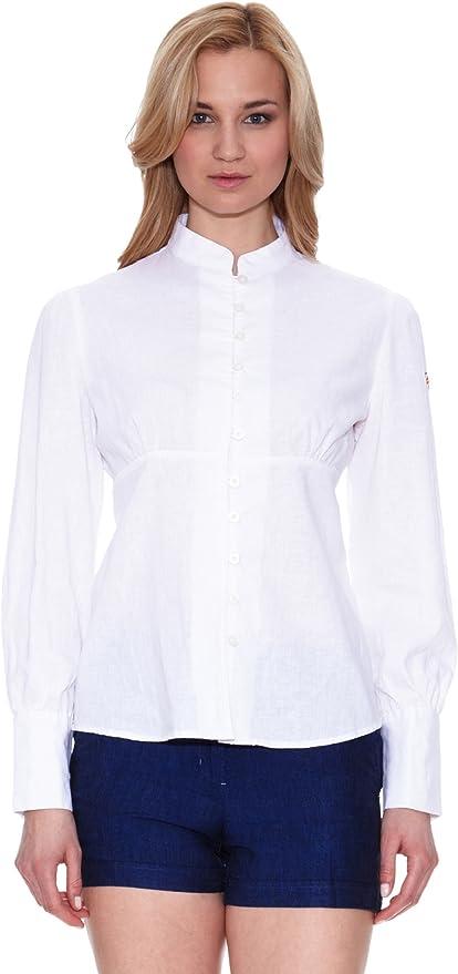 Spagnolo Camisa Lino China Blanco L: Amazon.es: Ropa y accesorios