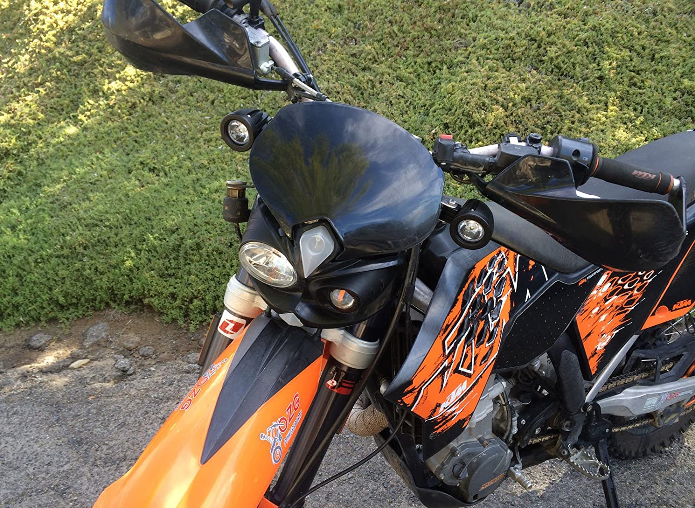 OZ-USA Flood Mini Trail Lights Led Spot Motorcycle Offroad Dual Sport En.