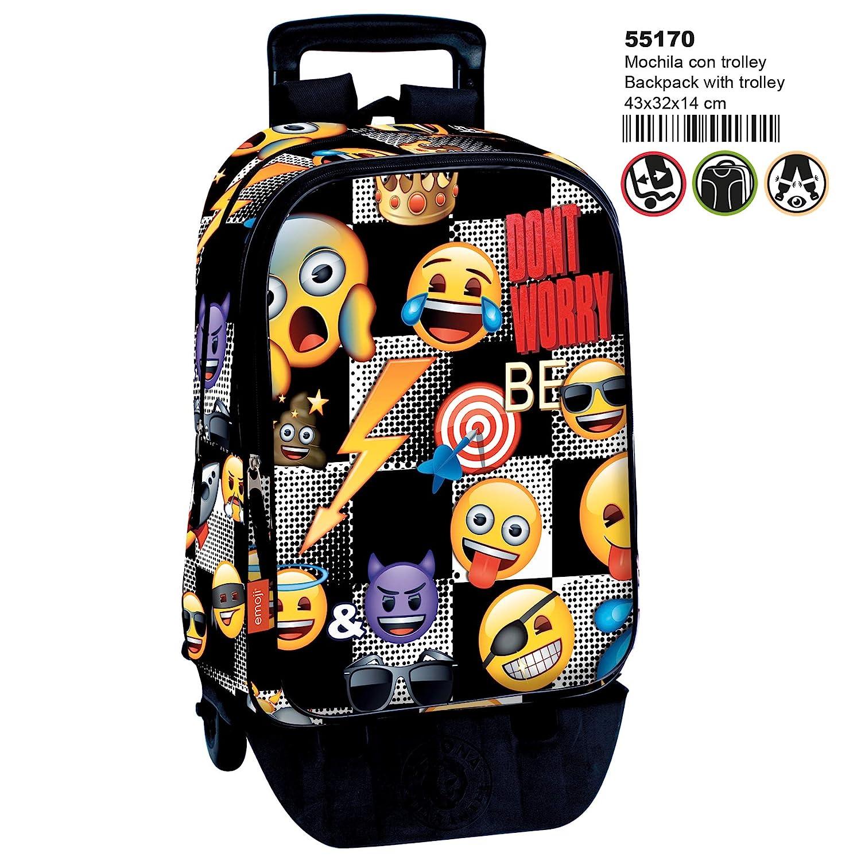 Montichelvo Montichelvo Detachable Trolley Em Sticker Tote da viaggio, 43 cm, Multicolore (Multicolour) Montichelvo_55170