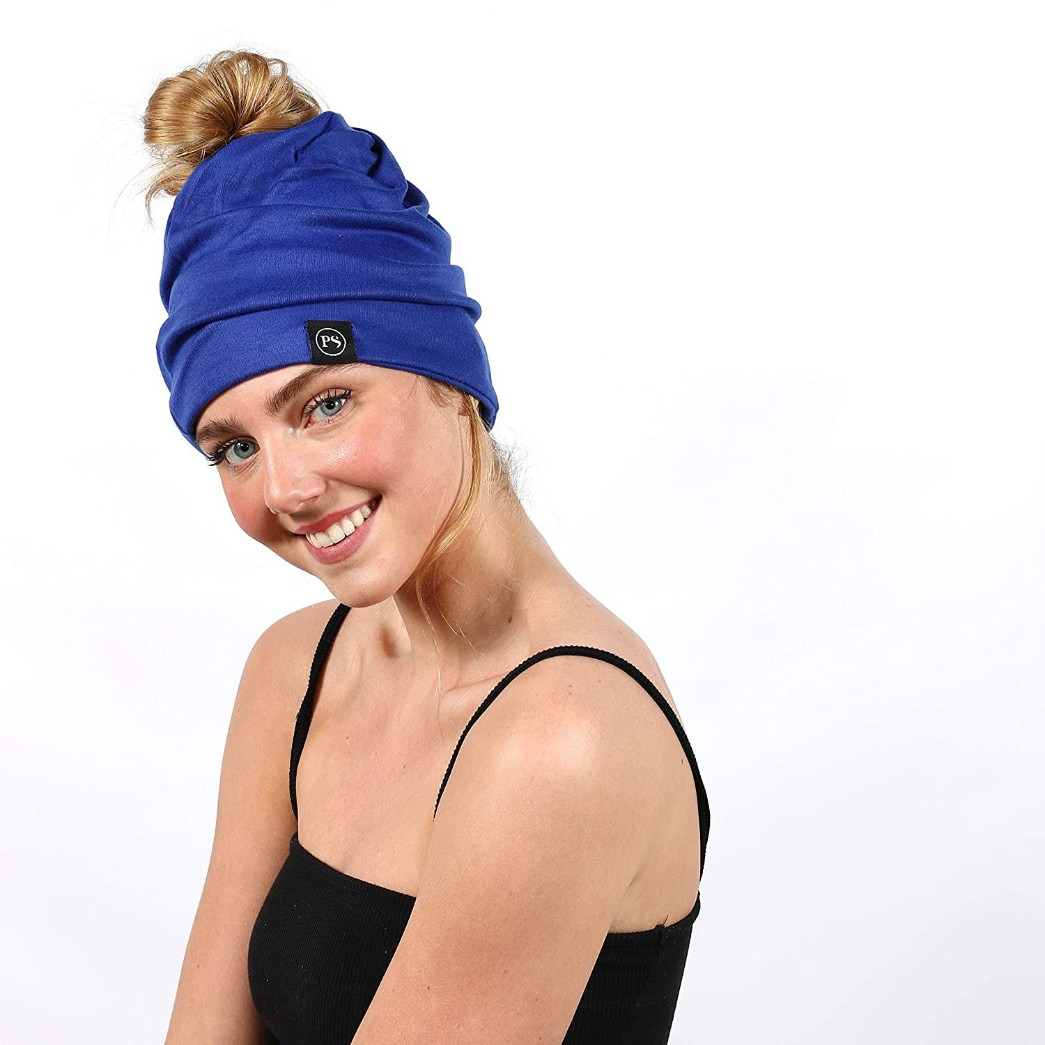 Pretty Simple Womens Beanie A Slouchy Beanie with Ponytail Hole