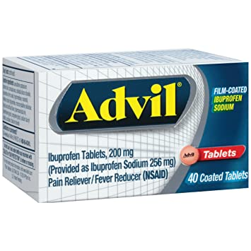 Amazon Com Advil 40 Count Pain Reliever Fever Reducer Film Coated