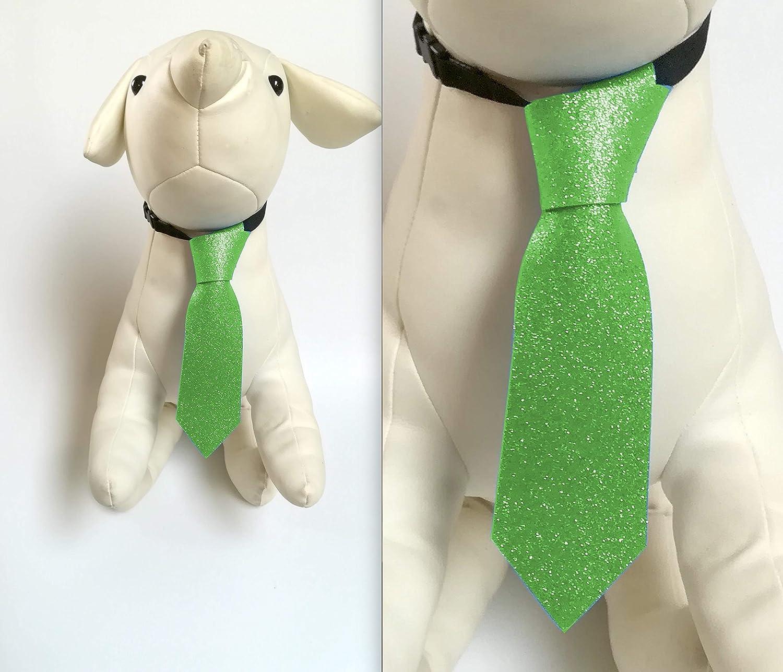Corbata Glitter Color Verde para Perro y Gato, Medida Grande 18 cm ...