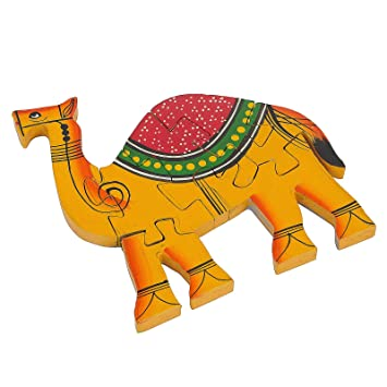Wooden Multicolor Creative Educational Jigsaw Puzzles Camel Shaped