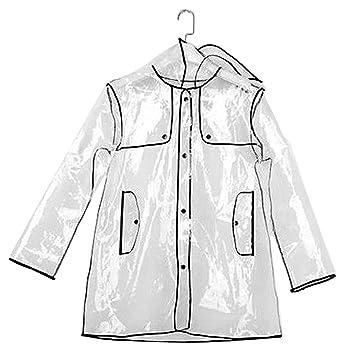 Inmozata À Anti Transparent Vestes Capuche Pluie Courte Imperméable wBwCxaqP