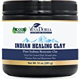 Indian Healing Clay Pure Bentonite Clay, 10 Oz (283 grams)