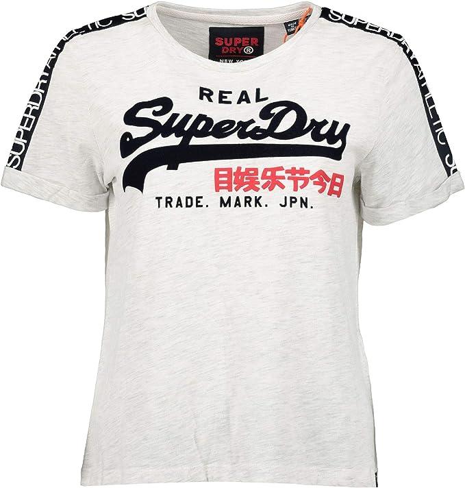 SUPERDRY VINTAGE LOGO SLEEVE TAPE BOXY TEE Ice Marl T-Shirt