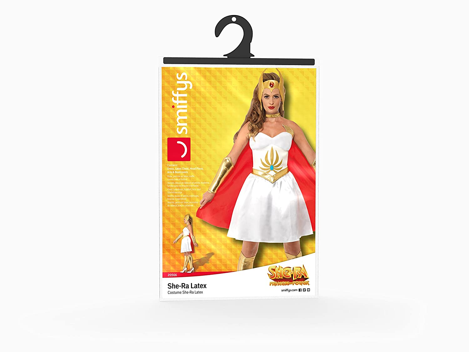 Amazon.com: Smiffys Womens She-ra Rubber Costume, Dress, Rubber Chest, Head Piece, Arm &: Clothing