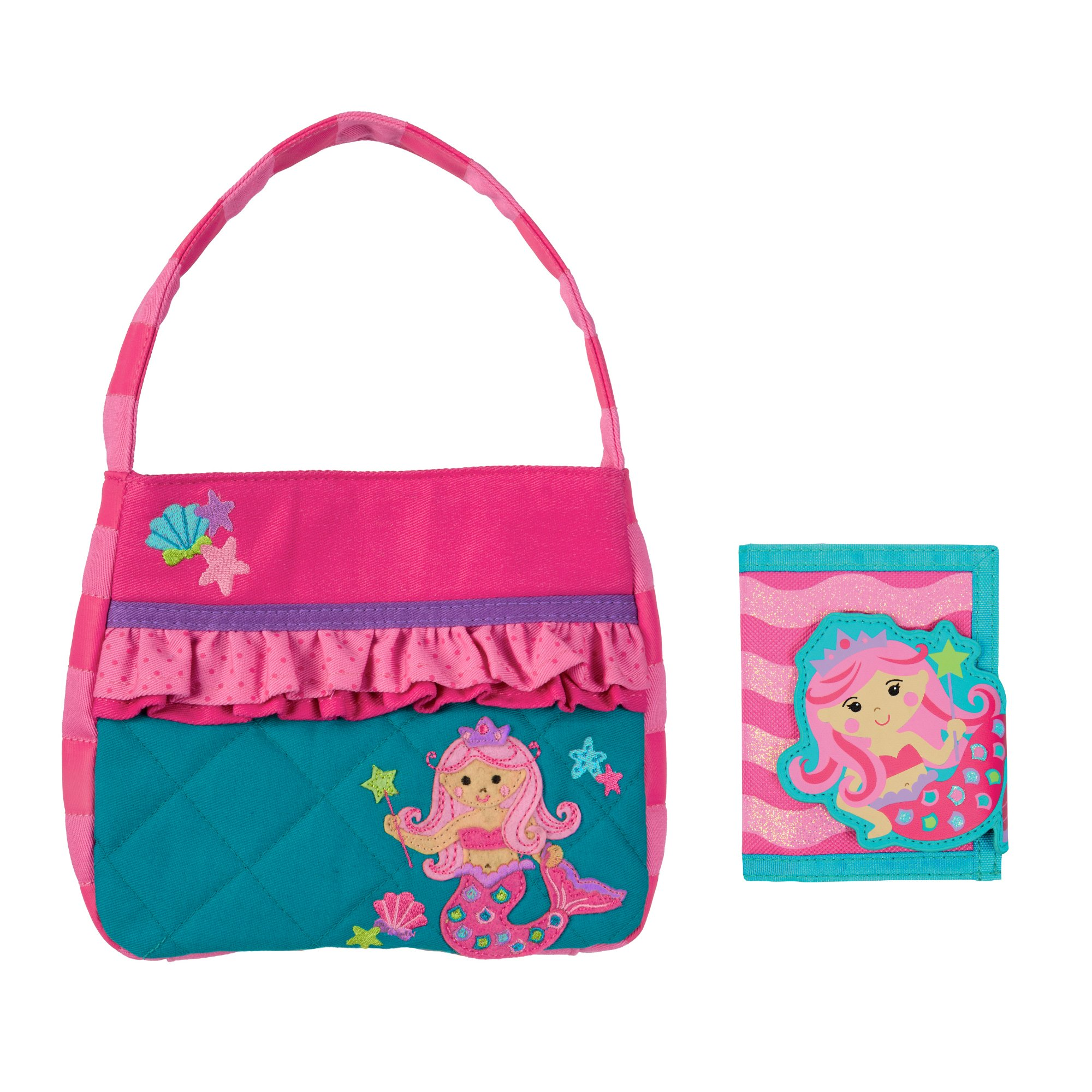 Stephen Joseph Girls Quilted Mermaid Purse and Wallet