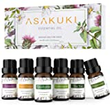 ASAKUKI Aromatherapy Essential Oils includes Lavender, Eucalyptus, Lemongrass, Tea Tree, Sweet Orange and Peppermint…