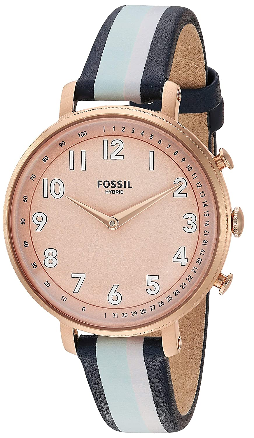 Amazon.com: Fossil Womens Stainless Steel Hybrid Watch with ...