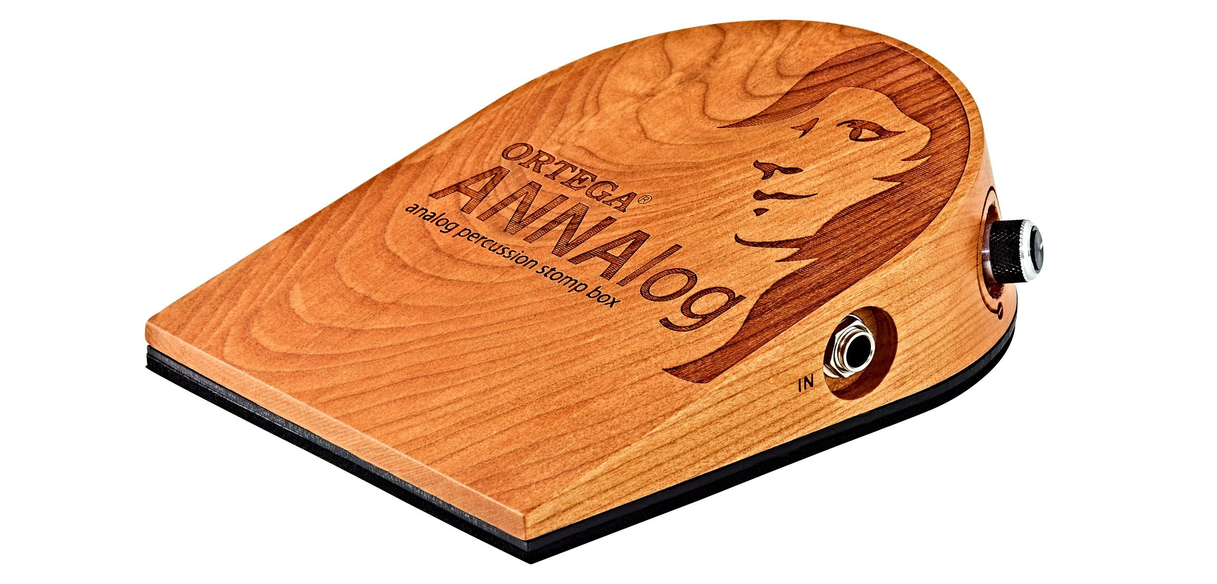 Ortega Guitars ANNALOG Stomp Box with Built-in Sound Optimized Piezo Technology