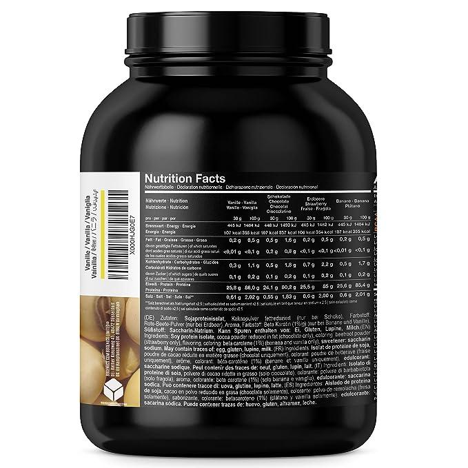 Soja Isolate GOLD - (100% vegetariana de proteína de soja natural, aislado lactosa, proteína natural), 1000g chocolate