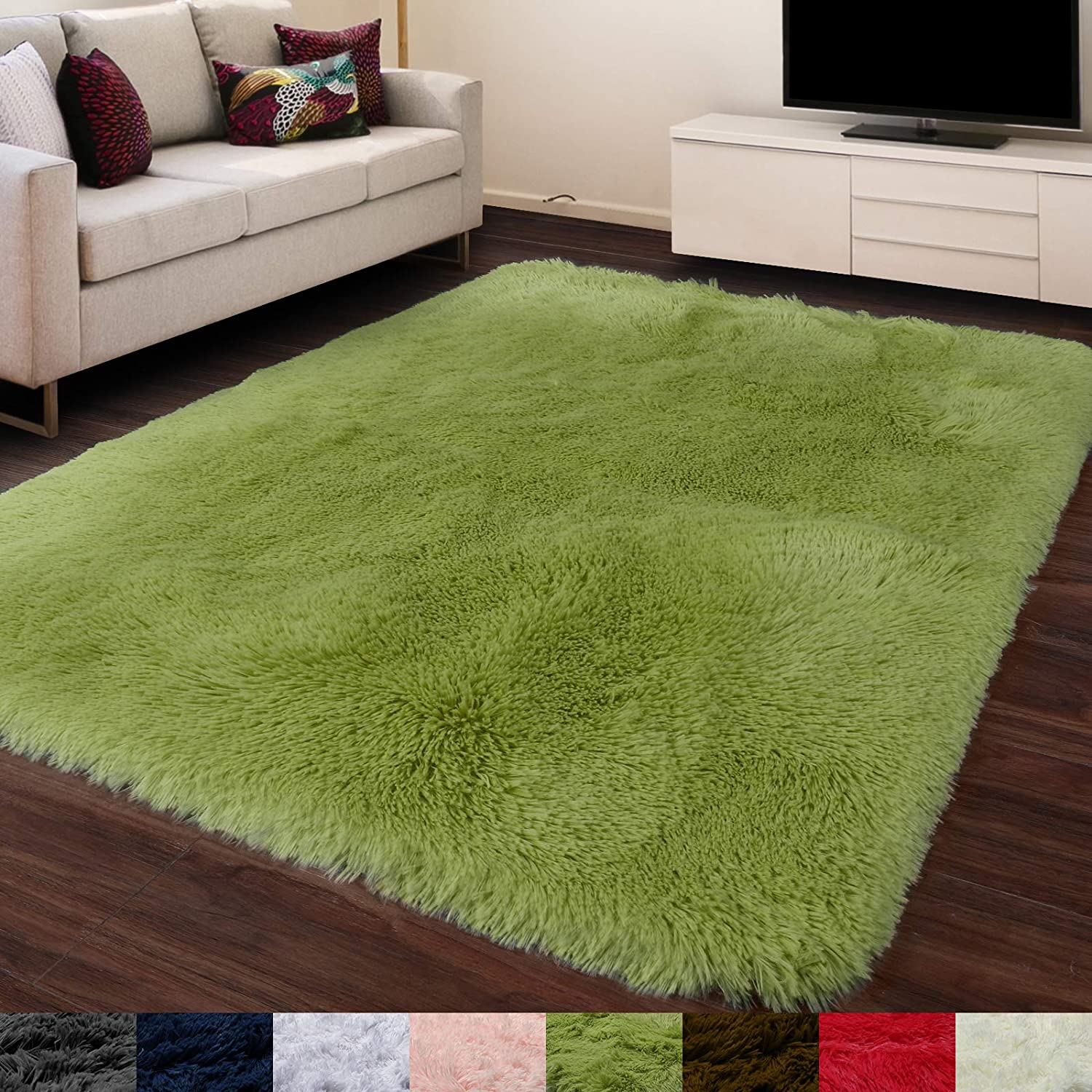 Buy Grass Green Soft Rug For Bedroom 4 X6 Fluffy Area Rug For Living Room Furry Carpet For Kids Room Shaggy Throw Rug For Nursery Room Fuzzy Plush Rug Green Carpet Rectangle Cute